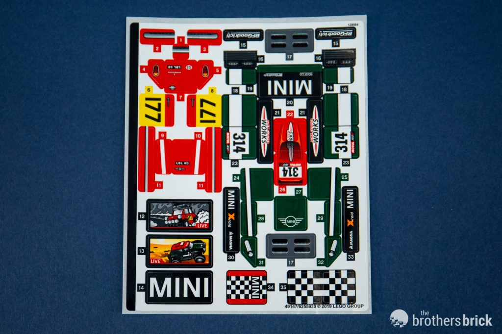 1967 Mini Cooper S Rally 2018 John Cooper Works LEGO Speed Champions 75894