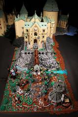 Clock Tower, Wobbly Bridge, Hagrid's Hut