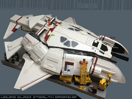 UBURO class SYD MEAD's stealth dropship...