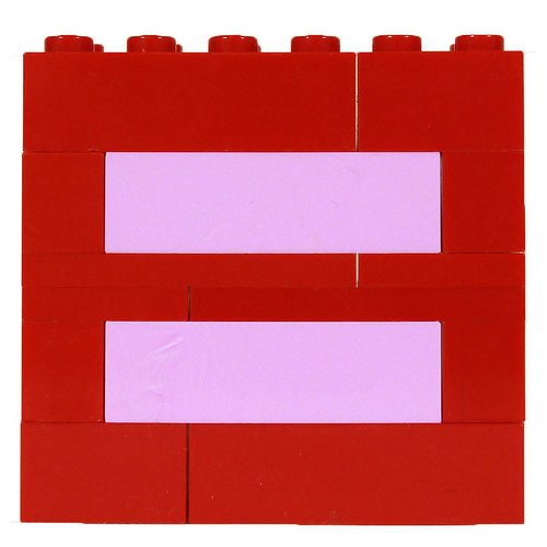 LEGO Red Equal Sign