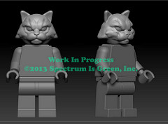 Cat Warrior Work In Progress for Pigs vs Cows on Kickstarter