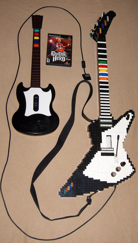 Original Guitar And Lego Guitar