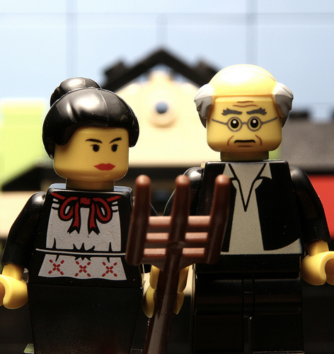 American Legothique by spidertoutouille on Flickr