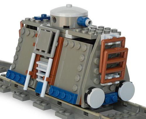 """Armored Handcar (""""Jigger-Class"""" Steam Railtank Mk. LXXIV) (front)"""