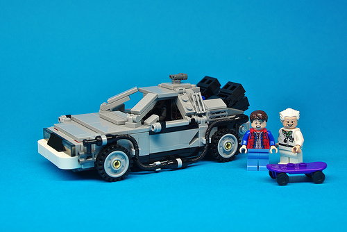 LEGO Back to the Future DeLorean (1)