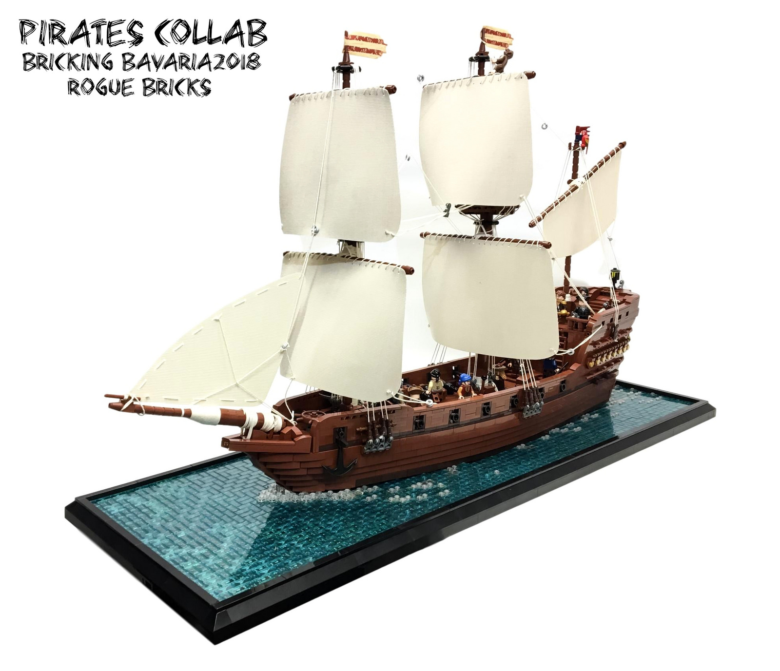 Pirate Ship... Castle Lego Ship Hull Ship-Used-Knights