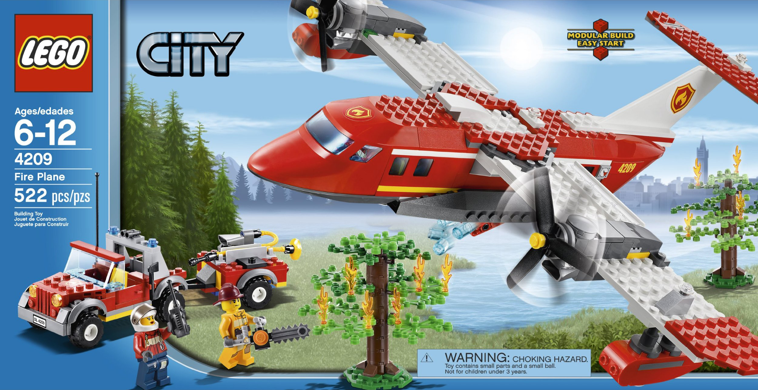 LEGO City 2012 4209 Fire Plane