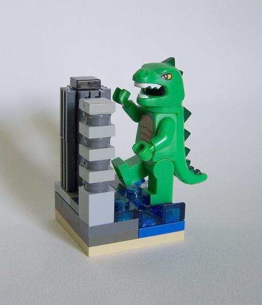 LEGO microscale Godzilla