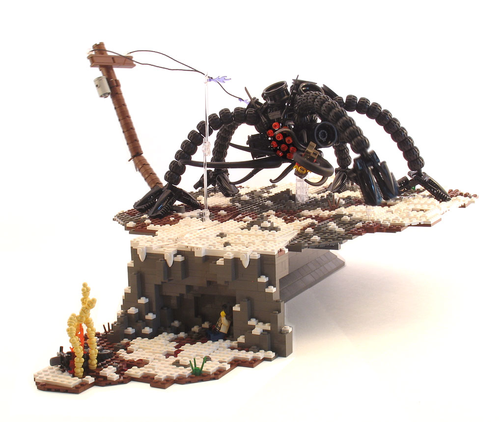 LEGO Black Fantasy Howl of Lamentations Unending post-apoc diorama by Justin Vaughn