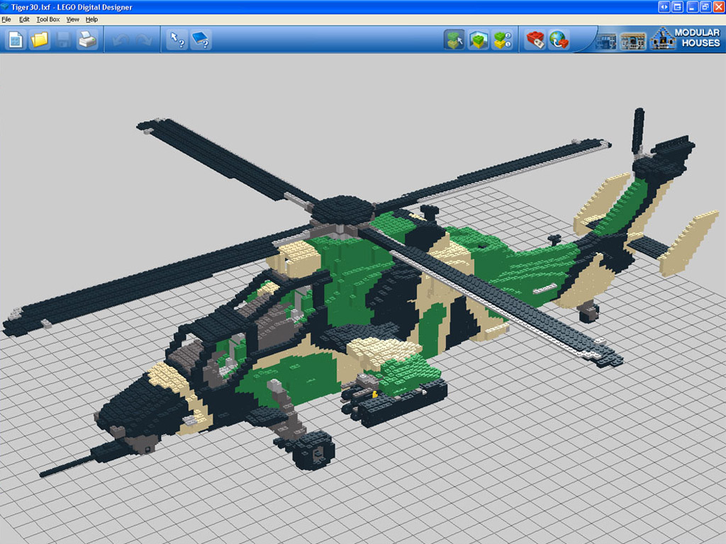 Massive LEGO Eurocopter Tiger ARH by Peter Edwards uses
