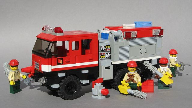 LEGO 6x6 TATRA Fire Truck