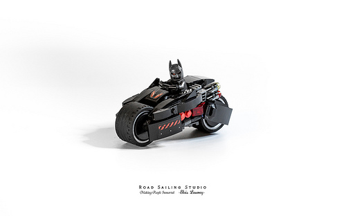 Lego Batman Batbike batman heavy motorcycle MOC