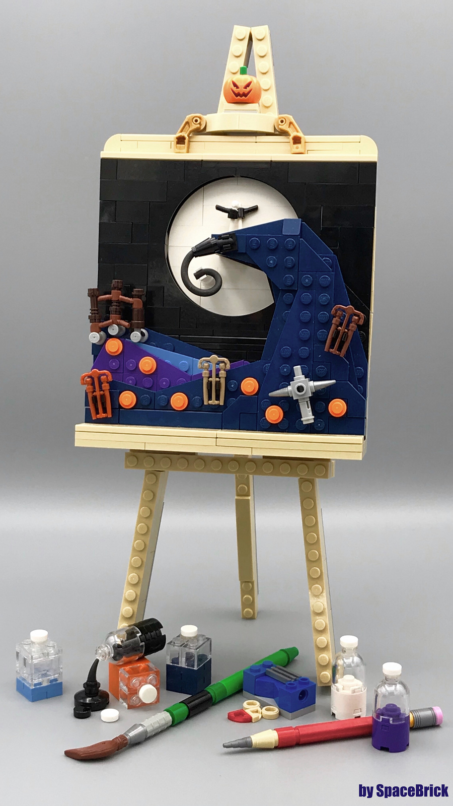 Nightmare before Christmas: Lego on Canvas