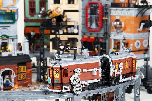 Steampunk Moon City Tram