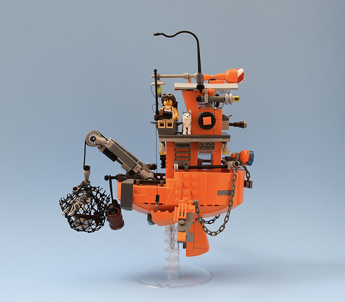 Flying Tug Boat  ( Inspired by Ian McQue )