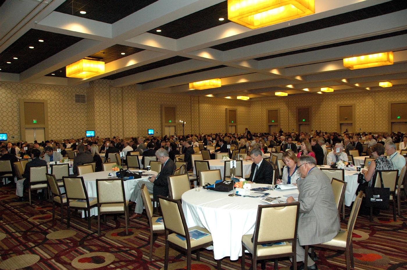 Un aspecto de la cumbre anula Mobility que tuvo lugar en el hotel JW de LA LIve en el centro de Los Angeles.