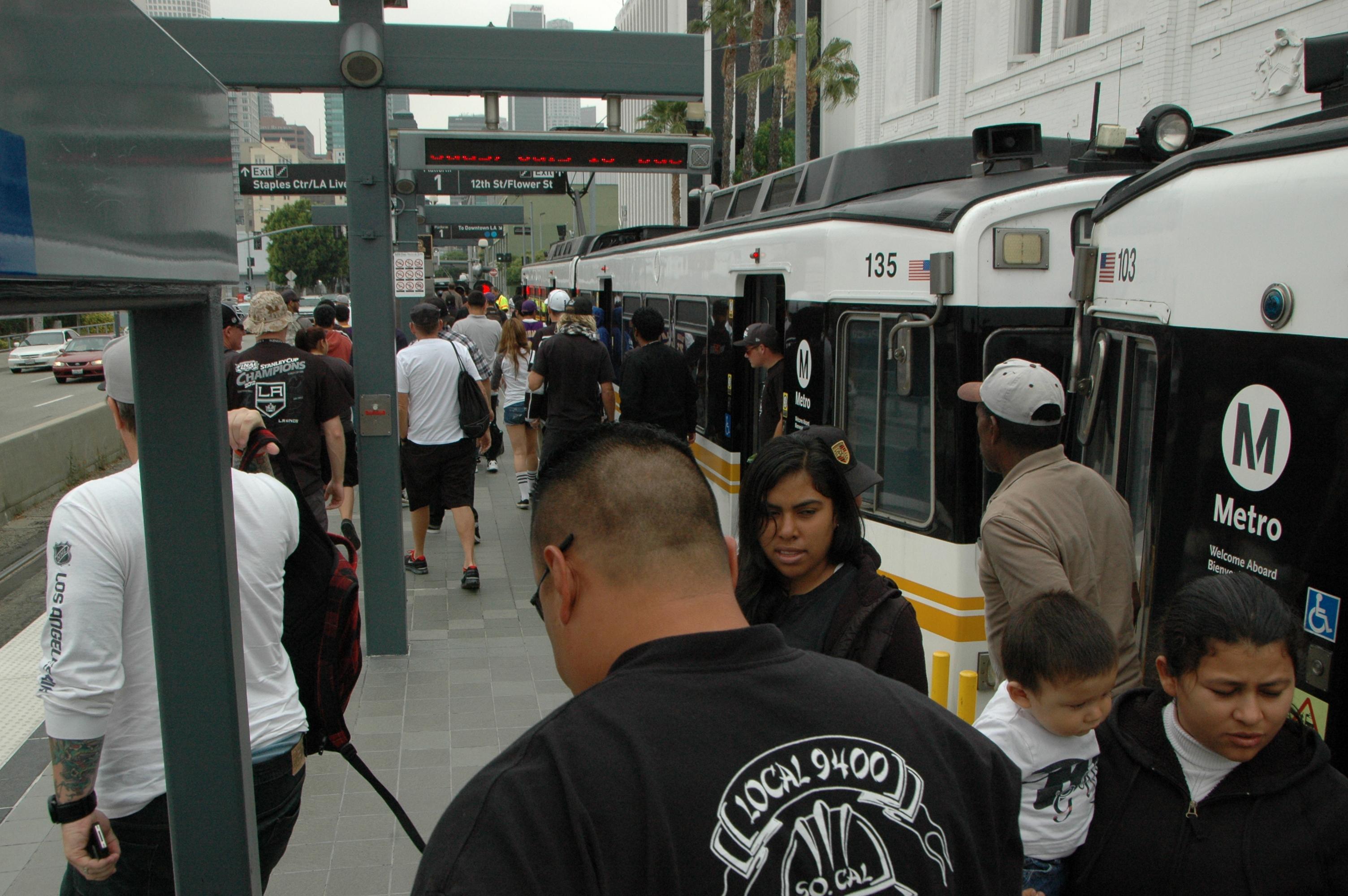 Estación Pico, frente al Staples Center. (Foto José Ubaldo/El Pasajero).