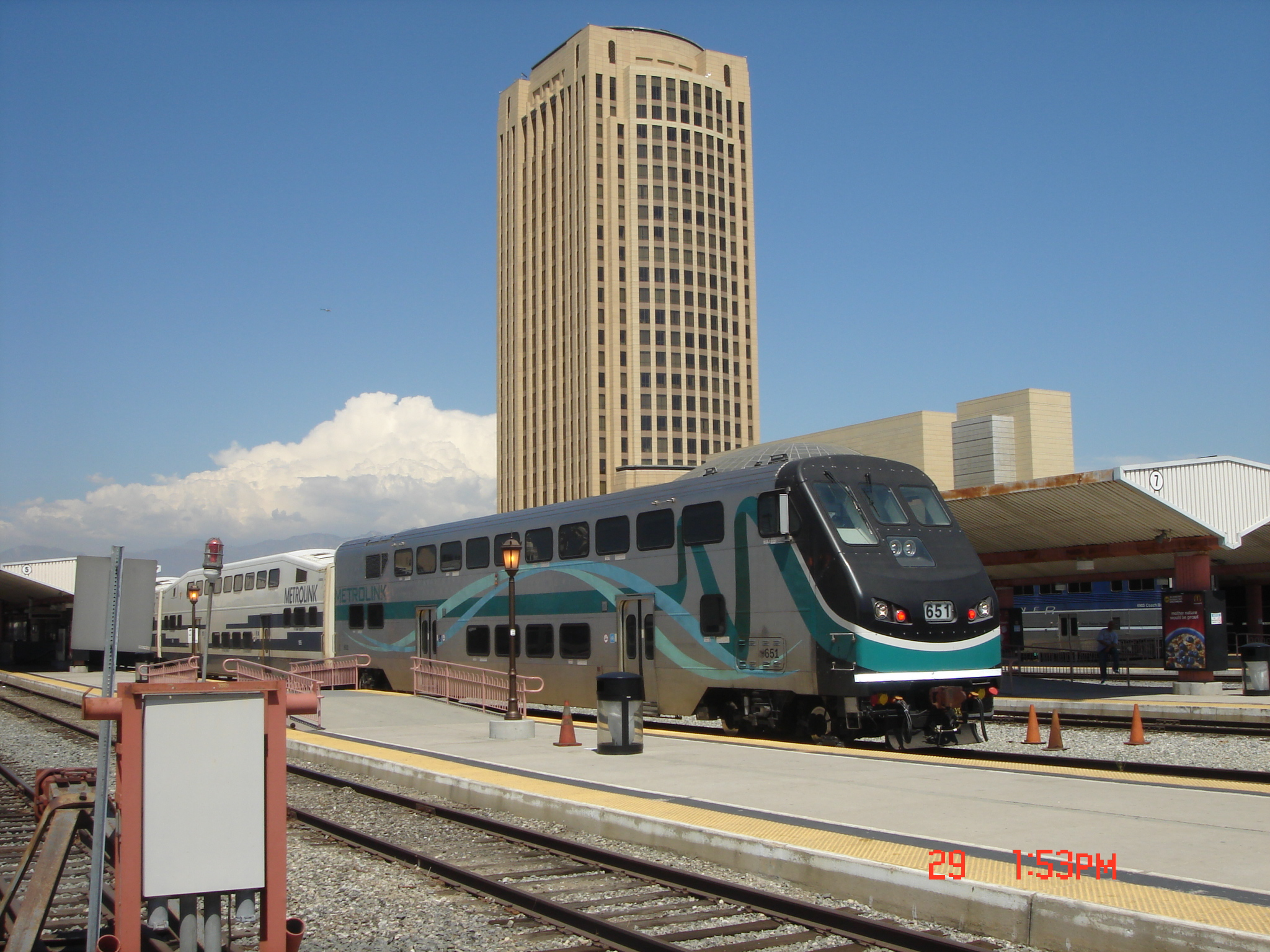 Tren de Metrolink en Union Station.