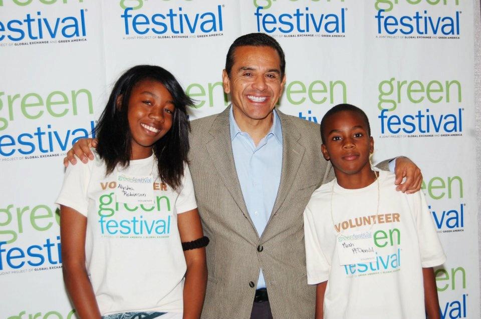 El alcalde Antonio Villaraigosa durante la celebración del Green Festival el año pasado.