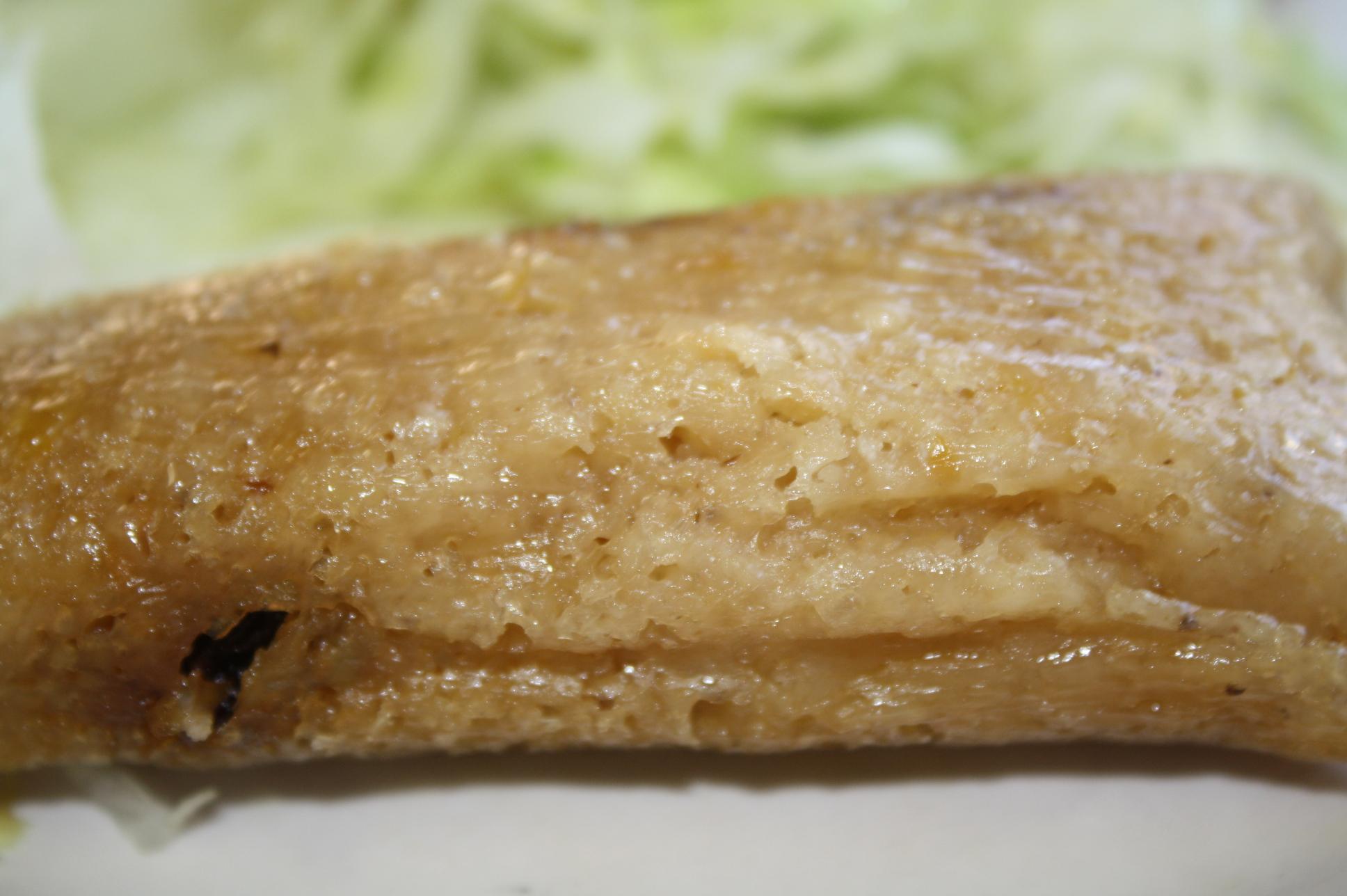 Tamal de dulce de piña del restaurante Diana's. Foto Agustín Durán/El Pasajero)>