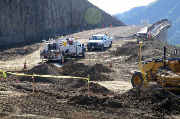 Onramp on Skirball during construction