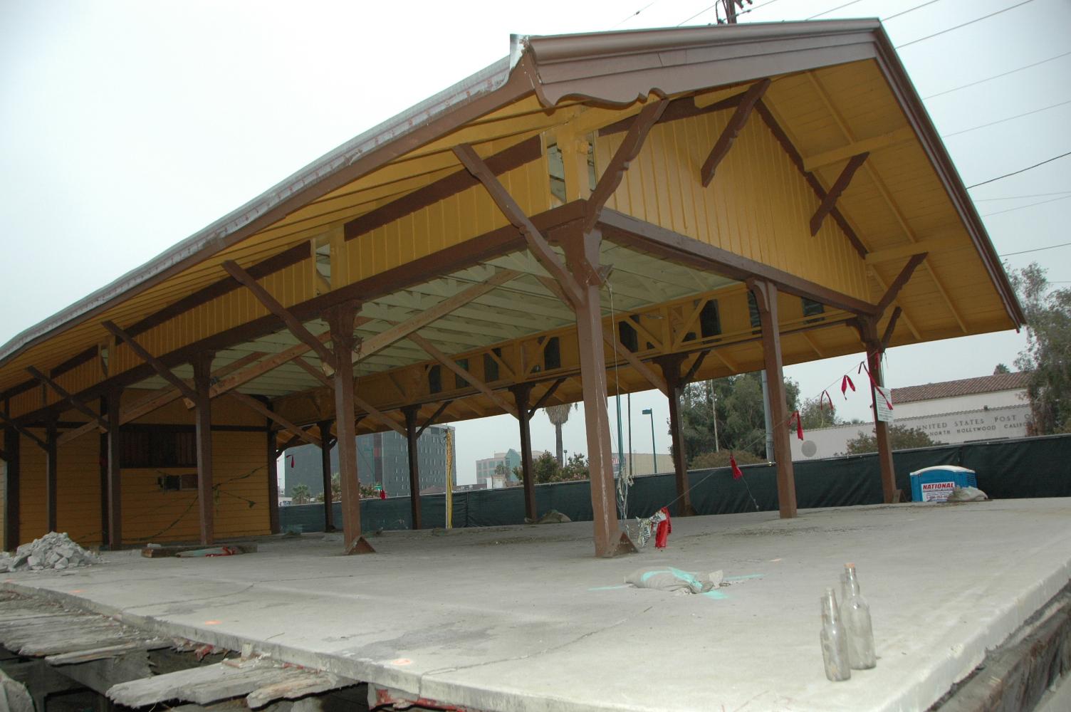 Vista parcial de la antigua estación del tren en North Hollywood. Foto José Ubaldo/El Pasajero.