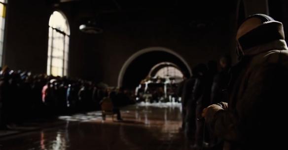 """Una escena de la película """"Dark Knight Rises"""" filmada en Union Station. Foto: Warner Bros."""