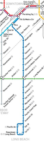 blue line map