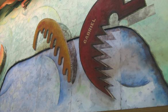Detalle del mural después de la limpieza.