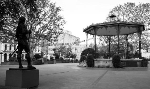 Estatua del rey Carlos III en la Antigua Plaza. Foto: