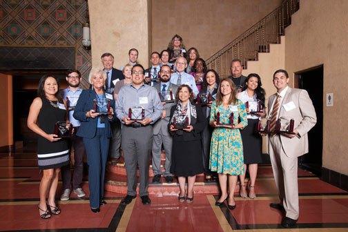Ganadores de los premios Diamond 2014. Foto: Josh Southwick/Metro.
