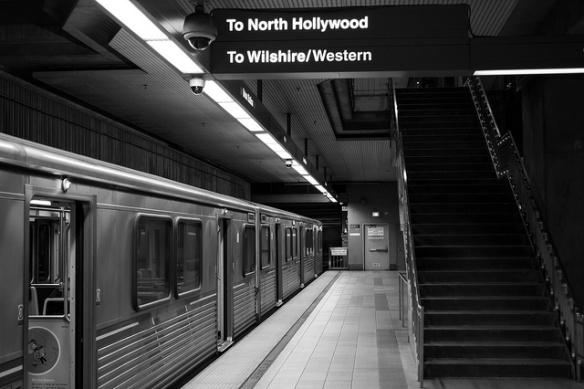 Tren de la Línea Púrpura en Union Station. Foto: Jon Ross Alexander/Metro.