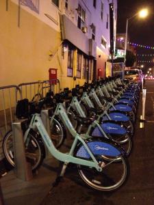 Estación de bicicletas compartidas. Foto: Steve Hymon/Metro.