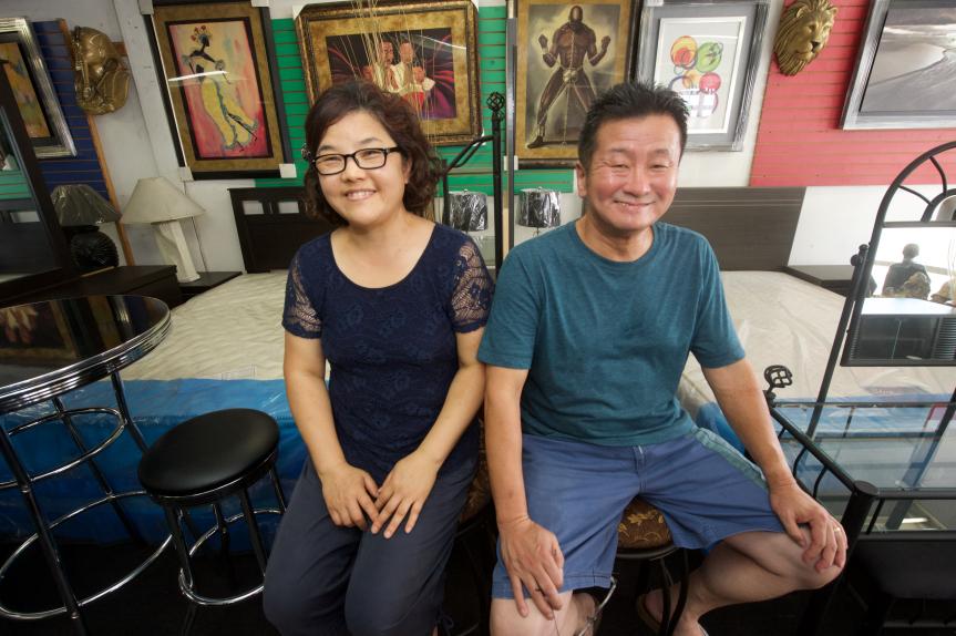 Chon-Yong Yun y Kyoung-Rhan Yun. Foto: Gary Leonard/Metro.