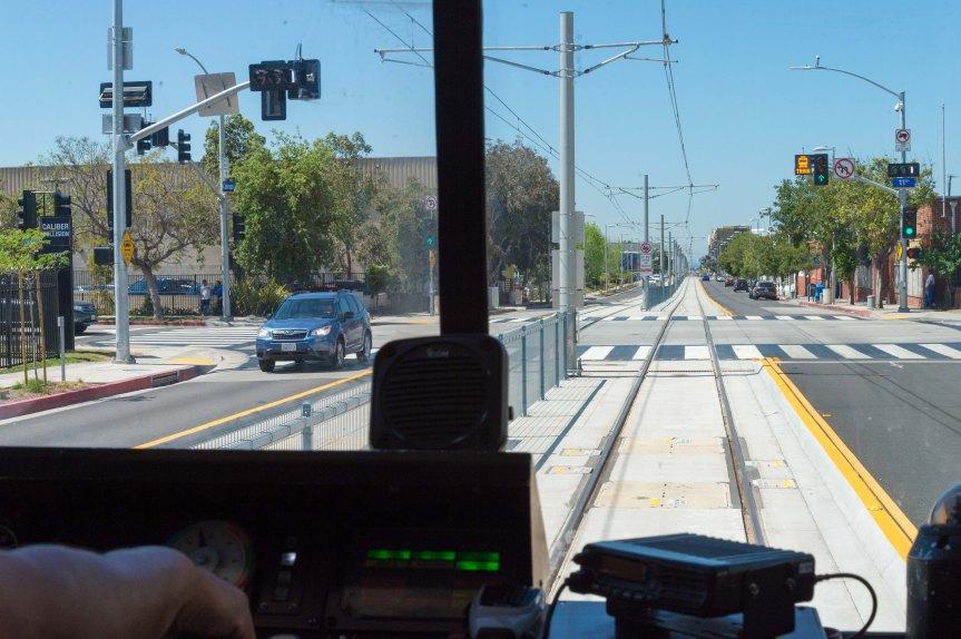 Tren de la Línea Expo a Santa Mónica. Foto: Steve Hymon/Metro.