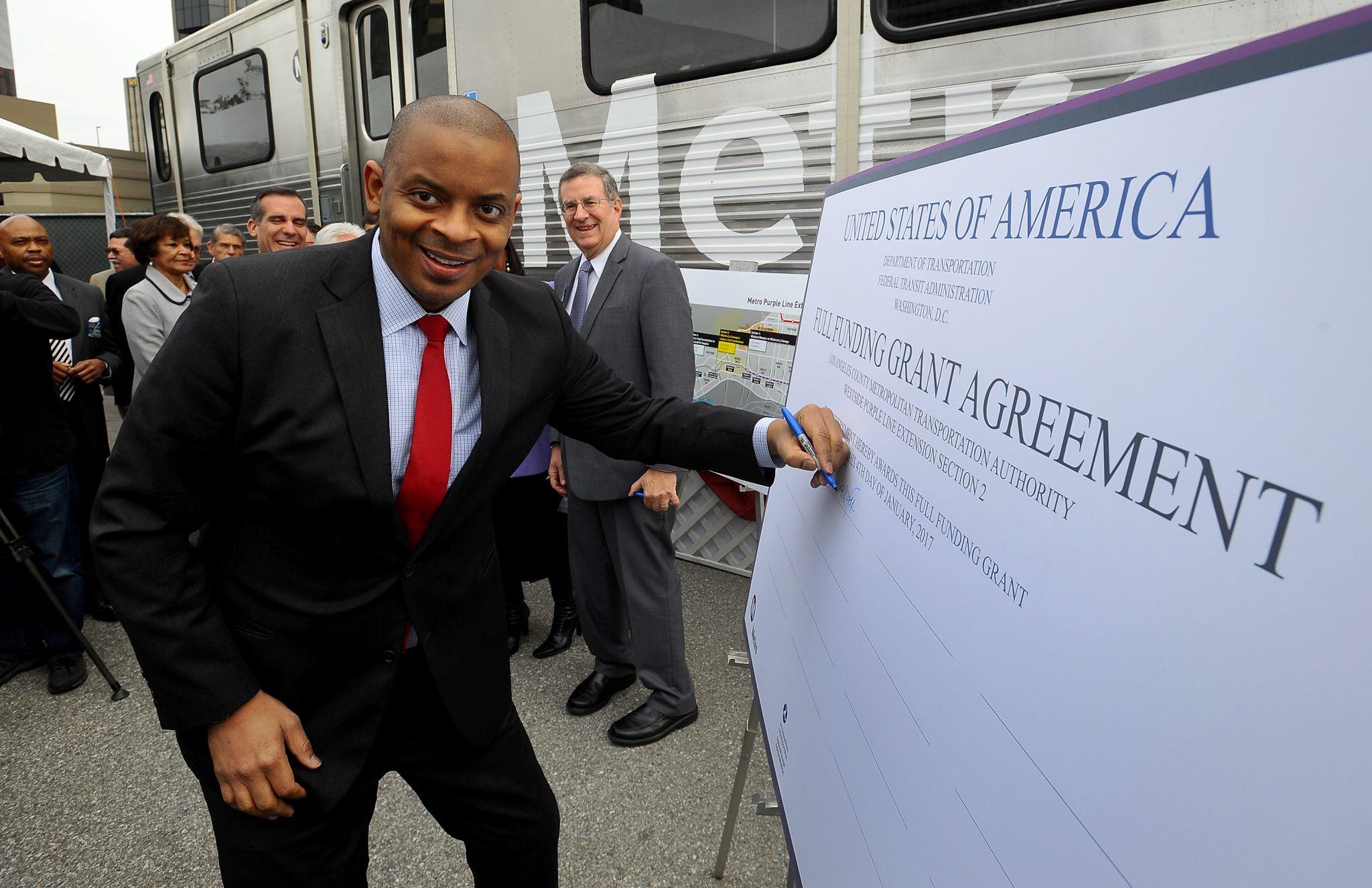 El secretario del Transporte de Estados Unidos, Anthony Foxx.