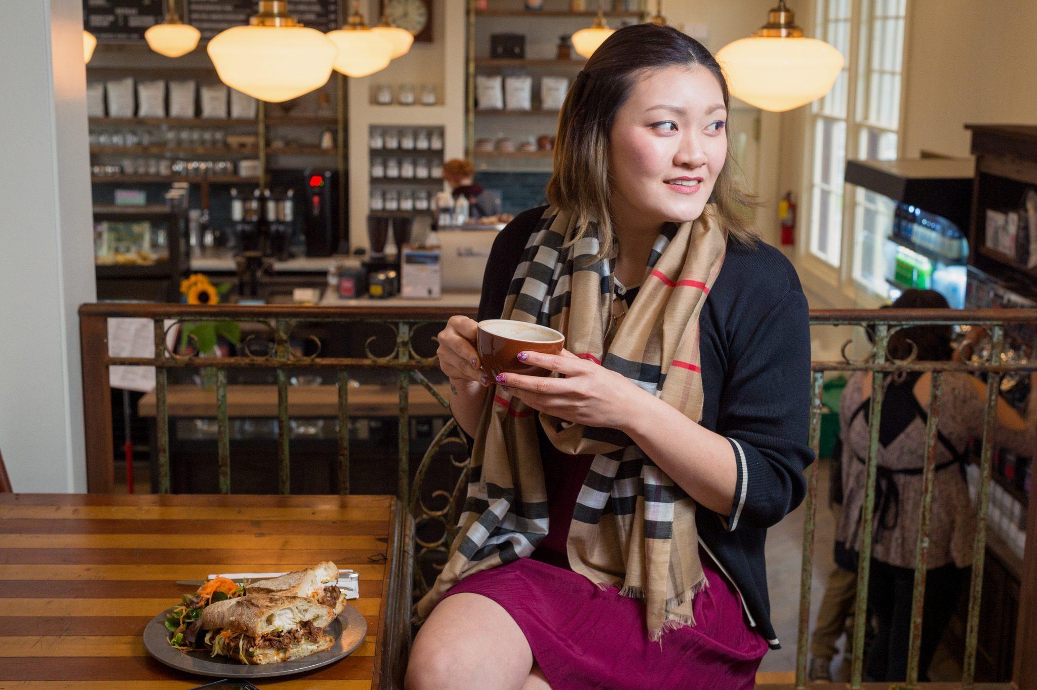 Tanto el café como la comida son deliciosos. Foto: Steve Hymon.