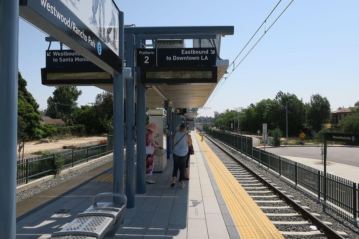 Plataforma de la estación Westwood/Rancho Park.