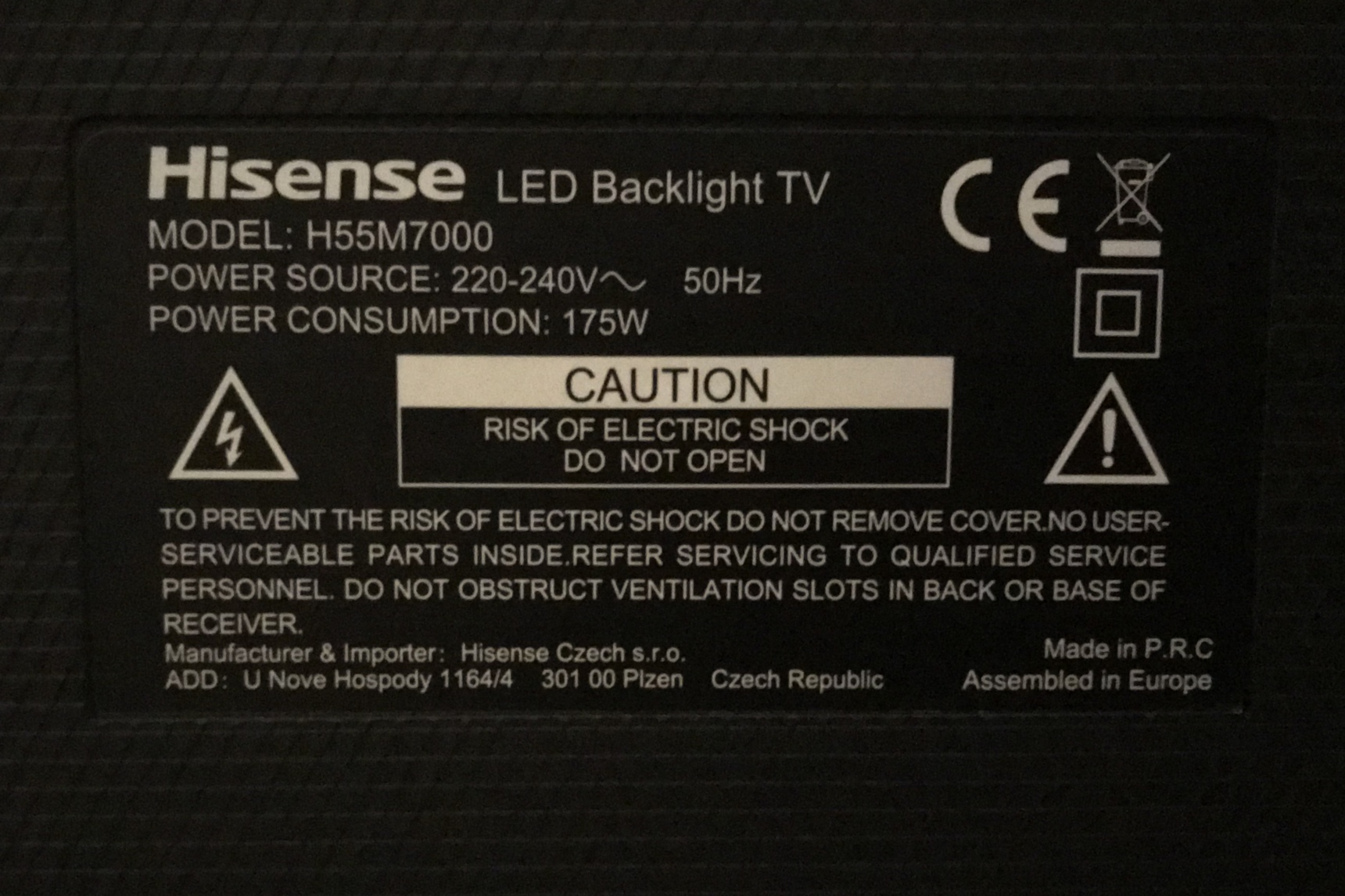 Hisense TVs (Discrete IR Codes attached) - Device Specific
