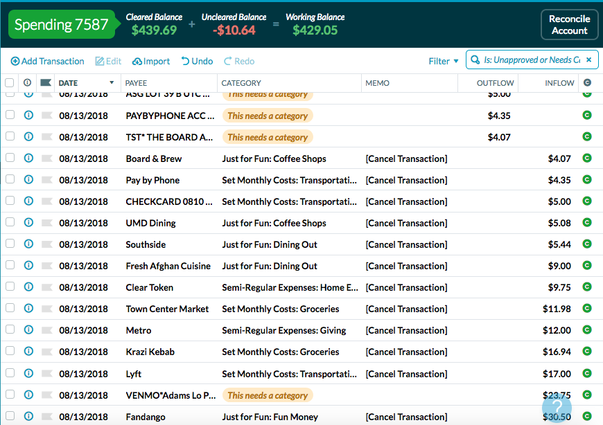 YNAB keeps double importing and then canceling the import