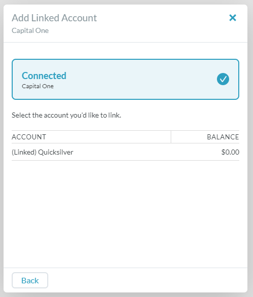 Capital One checking not appearing, but CC is - Bank