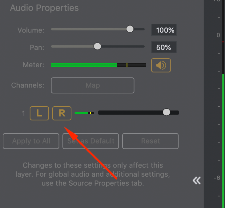 Skype NDI source, Separating audio channels - Wirecast