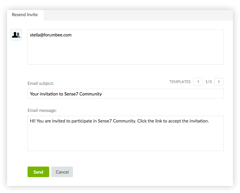 How to send reminder invitations user access and security review and edit email invitation text then click send stopboris Images
