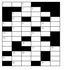 Washington Township Weekend Crossword