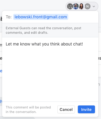 ff9c728c9aeb Click Invite and type in the guest s email address. You are able to add  multiple guests at once.