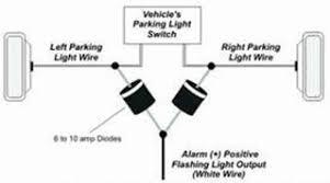 parking circuit wiring diagram diode isolate parking lights relays switches diode wiring  diode isolate parking lights relays
