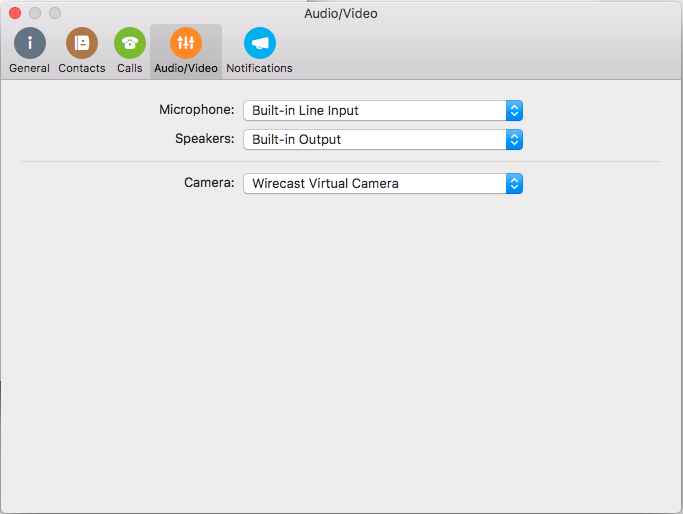 Skype for Business Mac, Virtual Cam not supported - Wirecast Capture