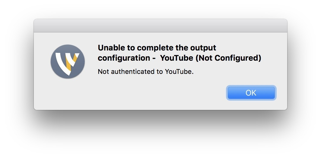 Youtube connection not working    - Wirecast Streaming