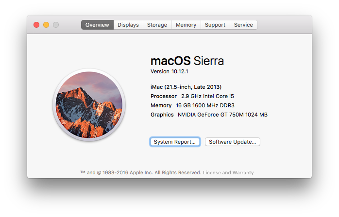 Faster, faster, faster! macOS Sierra & 99% CPU usage