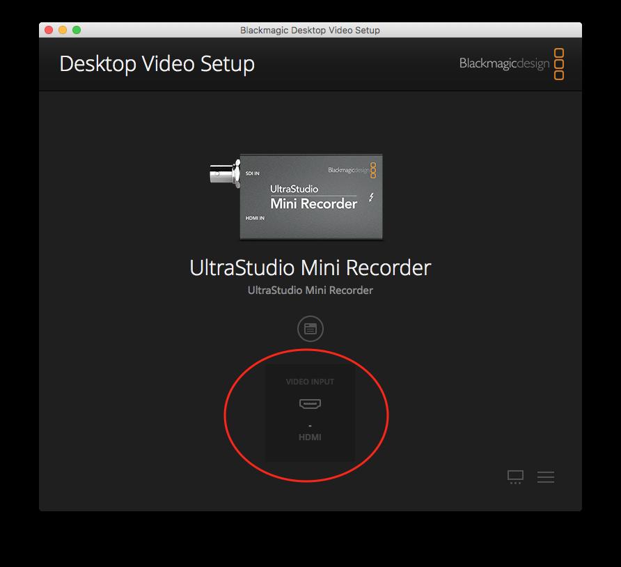 Camera over HDMI no signal but over composite works fine - Wirecast